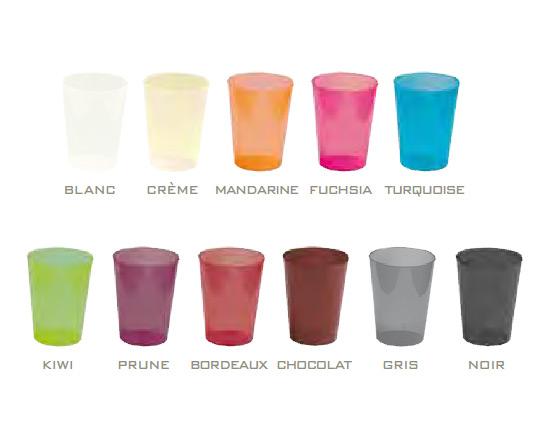 Gobelets en couleur